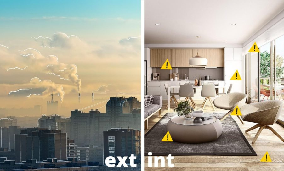 contaminación exterior vs interior